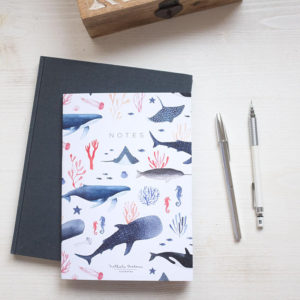 Bullet journal ballenas whales A5 by Nathalie Ouederni para Pequeños Placeres