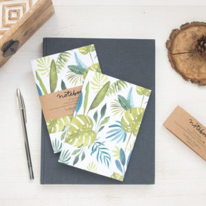Notebook green jungle by Nathalie Ouederni para Pequeños Placeres