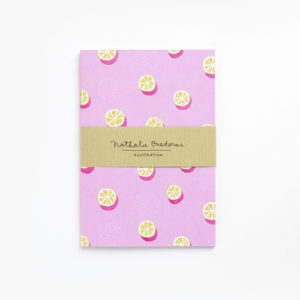 Notebook oranges A6 by Nathalie Ouederni para Pequeños Placeres