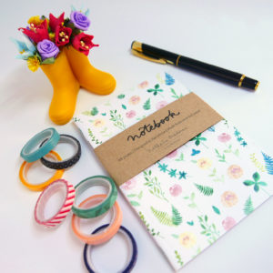 Notebook Floral A6 48 hojas by Nathalie Ouederni para Pequenos Placeres