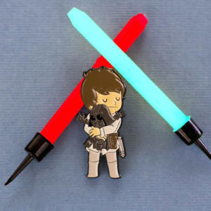 Pins Luke Skywalker y Darth Vader de Star Wars - Pequeños Placeres