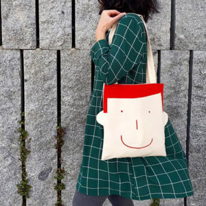 Tote bag Sam ecofriendly estampada a mano - Pequeños Placeres