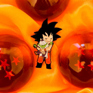 Pins Villanos adorables: Goku y Piccolo de Dragon Ball
