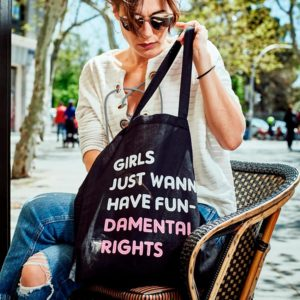 Tote Bag feminista Girls Just Wanna Have Fundamental Rights