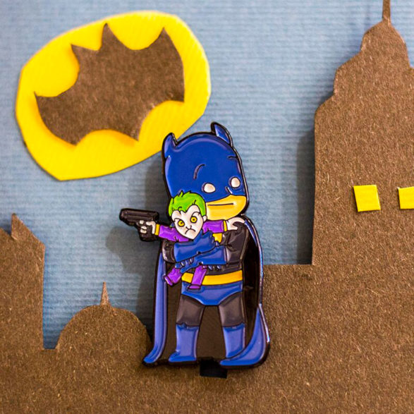 Pins Villanos adorables: Batman y Joker - Pequeños Placeres