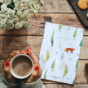 Bullet journal Notebook A5 Fox and ferns - Pequeños Placeres