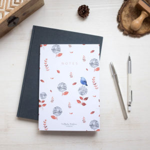 Bullet journal Notebook A5 Blue birds - Pequeños Placeres