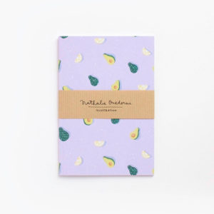Notebook A6 Aguacates lettering friendly - Pequeños Placeres