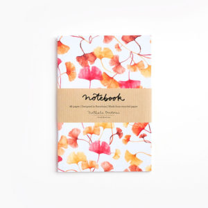 Notebook A6 Ginkgo lettering friendly - Pequeños Placeres
