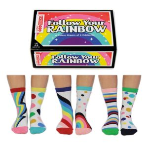 Calcetines desparejados Follow your rainbows 6u - Regalos Pequeños Placeres (by United Oddsocks)