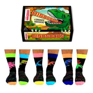 Calcetines desparejados Dinosocks Pack 6 unidades - Regalos Pequeños Placeres (by United Oddsocks)