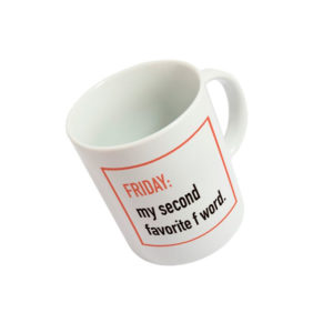 Taza Friday my second favorite F Word - Regalos Pequeños Placeres (Fisura)
