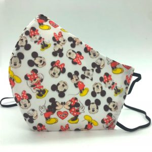 Mascarilla reutilizable infantil Mickey Minnie Mouse - Pequeños Placeres