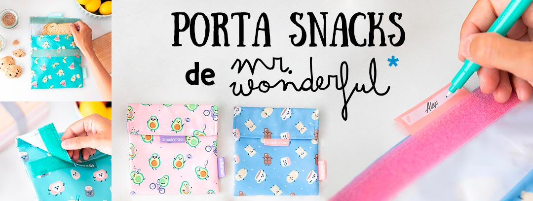 Porta snacks de Mr Wonderful - Regalos reutilizables