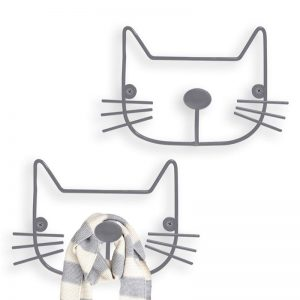 Colgadores de pared Gatos x2 Balvi